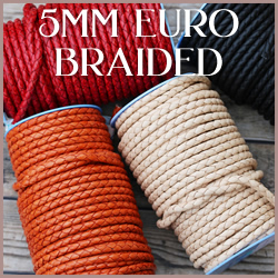 Braided Euro Leather 5mm