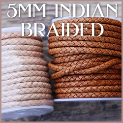 Braided Indian Leather WS 5mm