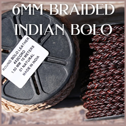 Braided Indian Bolo 6mm