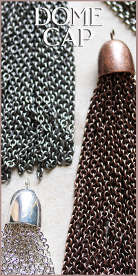 Dome Cap Chain Tassels