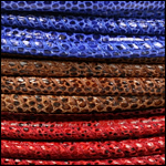 Lizard Print Leather<br>5mm