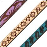 6mm Flat Etched Leather Strips