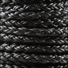 6mm Round Braided Bolo NAT BLACK - 10m Spool