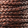 6mm Round Braided Bolo NAT RED BROWN - 10m Spool