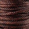 5mm Round Braided Sqaure NAT RED BROWN - 10m Spool