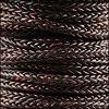 5mm Round Braided Sqaure NAT ANT BROWN - 10m Spool