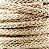 6mm Round Braided Sqaure NATURAL - 10m Spool