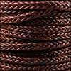 6mm Round Braided Sqaure NAT RED BROWN - 10m Spool