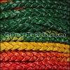 5mm Flat Indian Braided Leather MULTI COLOR - 10 Meter Spool