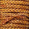 5mm Flat Indian Braided Leather NATURAL TAN - 10 Meter Spool