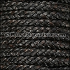 5mm Flat Indian Braided Leather NATURAL ESPRESSO - 10 Meter Spool