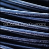 2mm round Greek leather DARK NAVY - per 50m COIL