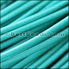 2mm round Greek leather EMERALD - per 50m COIL