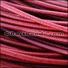 2mm round Greek leather BURGUNDY - per 50m COIL