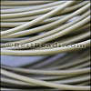2mm round Greek leather OLIVE GREEN - per 50m COIL
