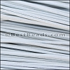 2mm round Greek leather WHITE - per 50m COIL