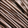 2mm round Greek leather MEDIUM BROWN - per 50m COIL