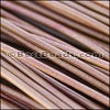 2mm round Greek leather TAN - per 50m COIL