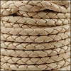 4mm Round Indian Braided Leather CREAM - 10m SPOOL