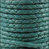 4mm Round Indian Braided Leather TURQUOISE - 10m SPOOL