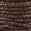 4mm Round Indian Braided Leather DARK BROWN - 10m SPOOL