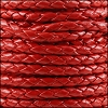 4mm Round Indian Braided Leather CRIMSON - 10m SPOOL
