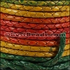 3mm Round Indian Braided Leather MULTI COLOR - 10 Meter Spool