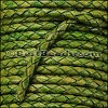3mm Round Indian Braided Leather NATURAL GREEN - 10 Meter Spool