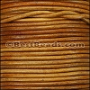 2mm round Indian leather - NATURAL TAN - 25m SPOOL