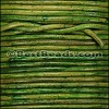 2mm round Indian leather - NATURAL GREEN - 25m SPOOL
