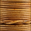 2mm round Indian leather - natural med. brown - 25m SPOOL