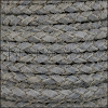 5mm Round Suede Braided Leather CADET BLUE - 10m SPOOL