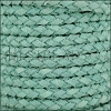 5mm Round Suede Braided Leather MINT - 10m SPOOL