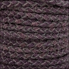 5mm Round Suede Braided Leather NATURAL BERRY - 10m SPOOL