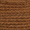 5mm Round Suede Braided Leather NATURAL WOOD - 10m SPOOL