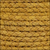 5mm Round Suede Braided Leather NATURAL TUSCAN SUN - 10m SPOOL