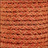 5mm Round Suede Braided Leather NATURAL TAWNY - 10m SPOOL