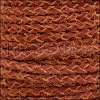 5mm Round Suede Braided Leather NATURAL MERLOT - 10m SPOOL