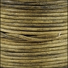 2mm round Indian leather - weathered PEANUT - 25m SPOOL