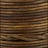3mm round Indian leather - weathered WOOD - 25m SPOOL