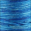 3mm round Indian leather - weathered AZURE - per 25m SPOOL