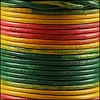 3mm round Indian leather - MULTI COLOR - 25m SPOOL