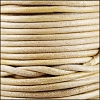 3mm round Indian leather - cream - 25m SPOOL