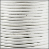 3mm round Indian leather - white - per 25m SPOOL