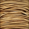 0.5mm round Indian leather - natural dye - 25m SPOOL