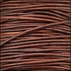 0.5mm round Indian leather - red brown natural dye - 25m SPOOL