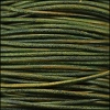 0.5mm round Indian leather - dark green natural dye - 25m SPOOL
