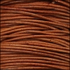 0.5mm round Indian leather - brown natural dye - 25m SPOOL