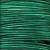 0.5mm round Indian leather - turquoise natural dye - 25m SPOOL