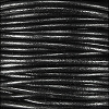 2mm round Indian leather - shiny black natural dye - per 25m SPOOL